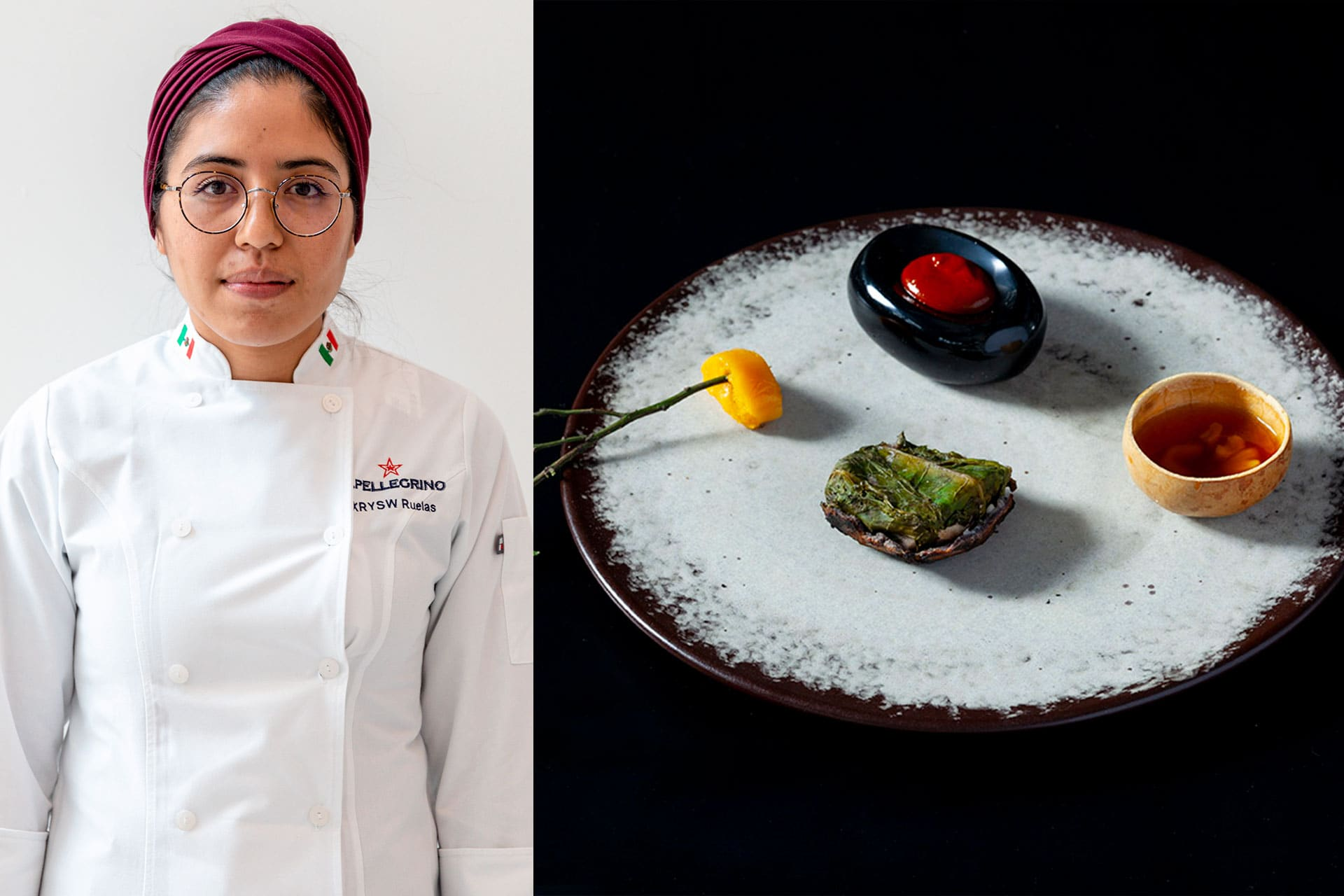 Xrysw Ruelas from Mexico wins with her Signature Dish Milpa y Mar