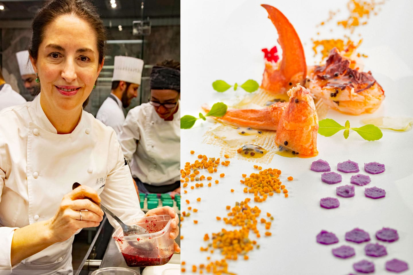 Elena Arzak, Lobster with bees pollen