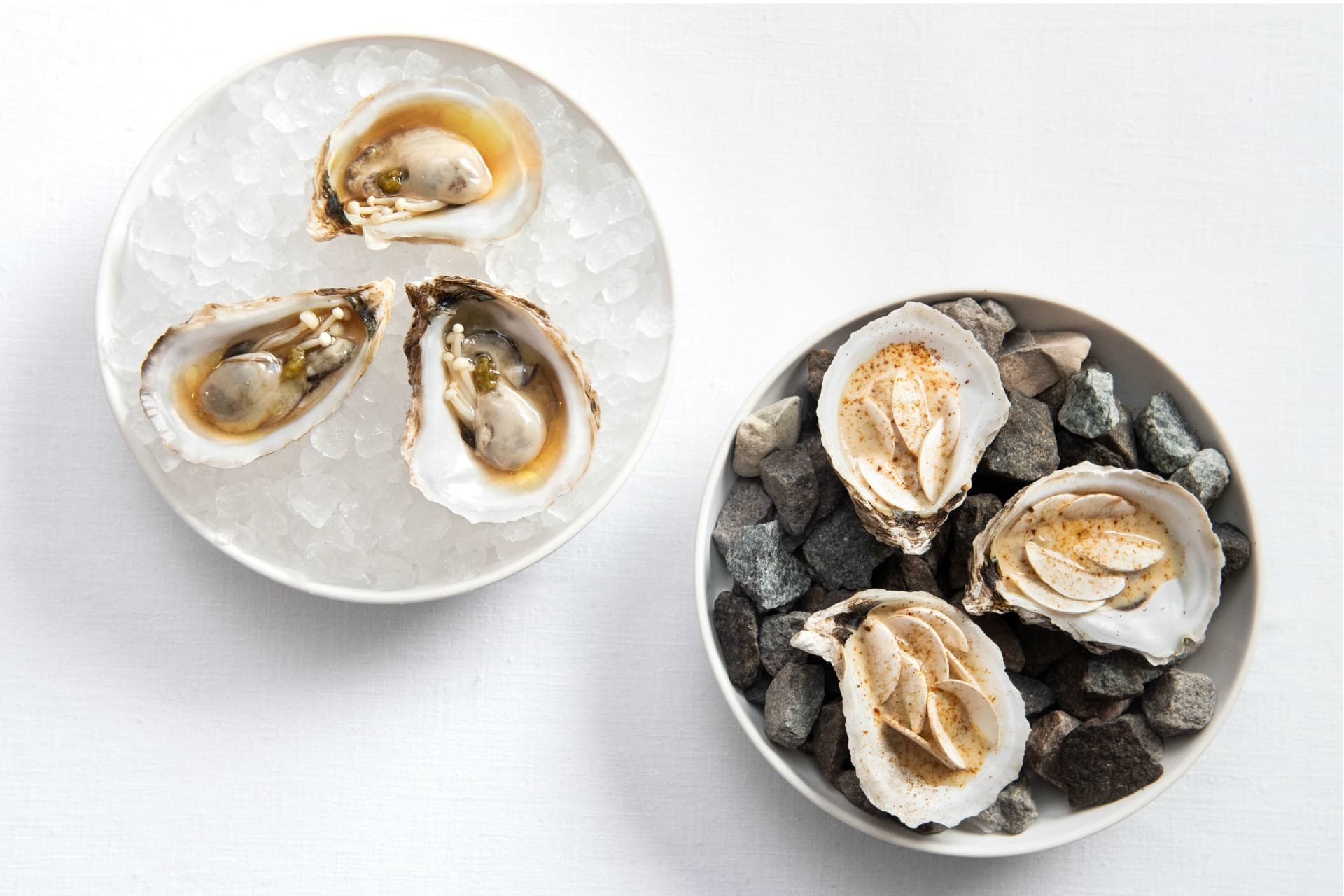 Hot and cold oysters