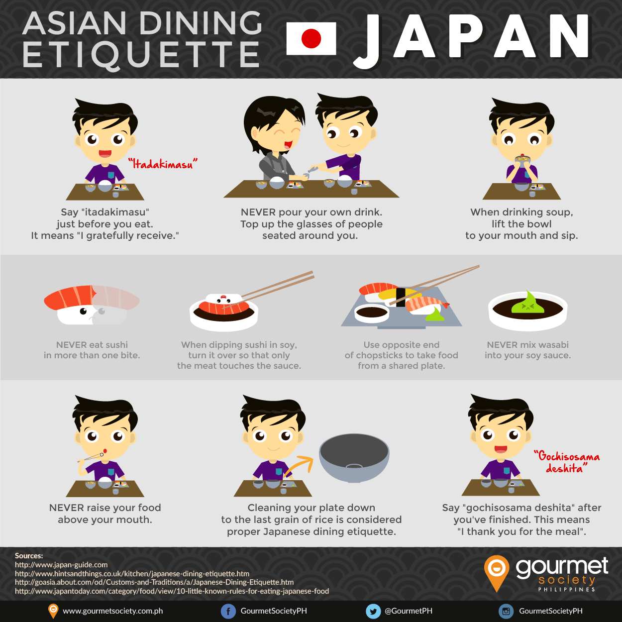 asian dining etiquette series dining in japan
