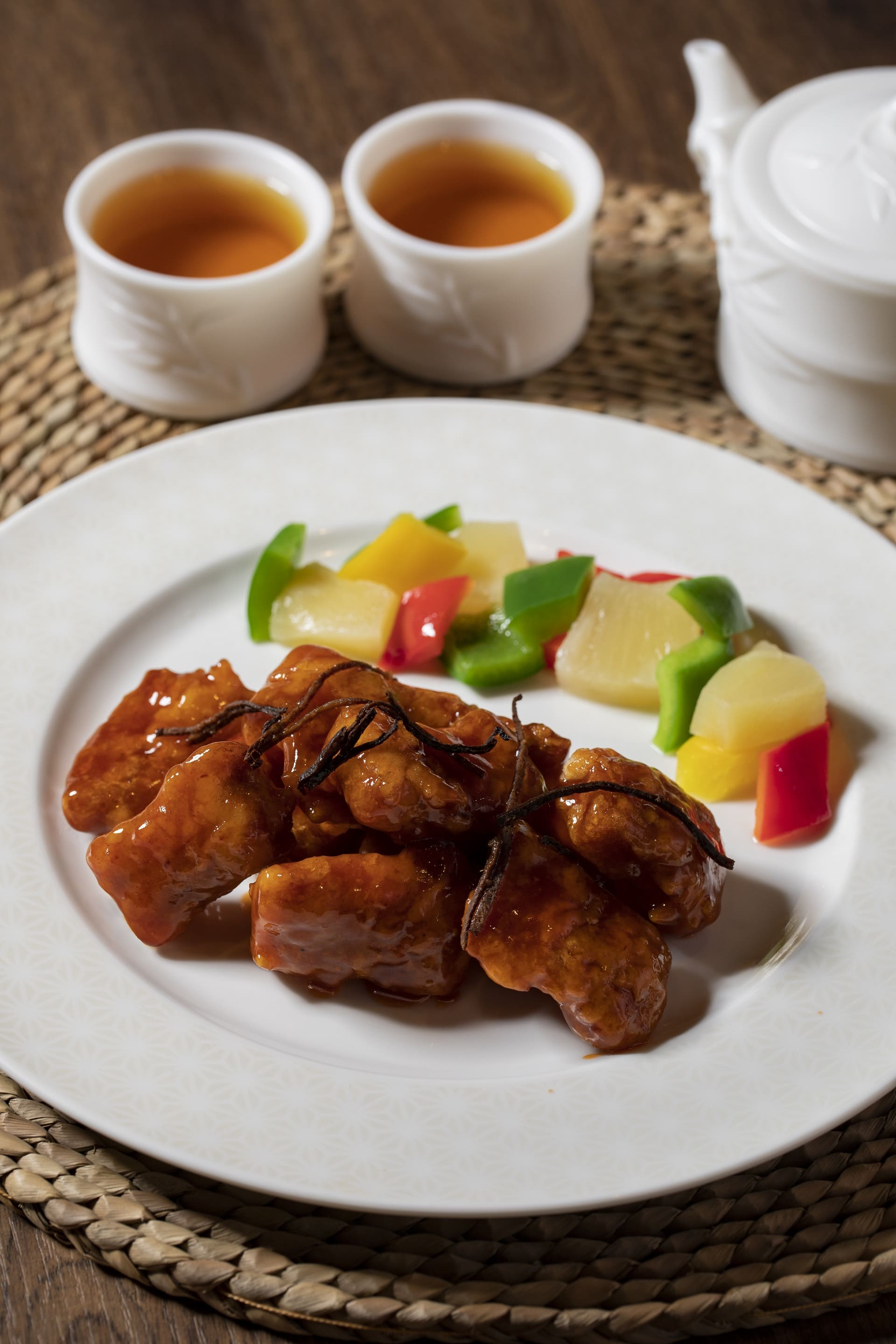 Deep-fried Pork with dried mandarin peel in sweet & sour sauce