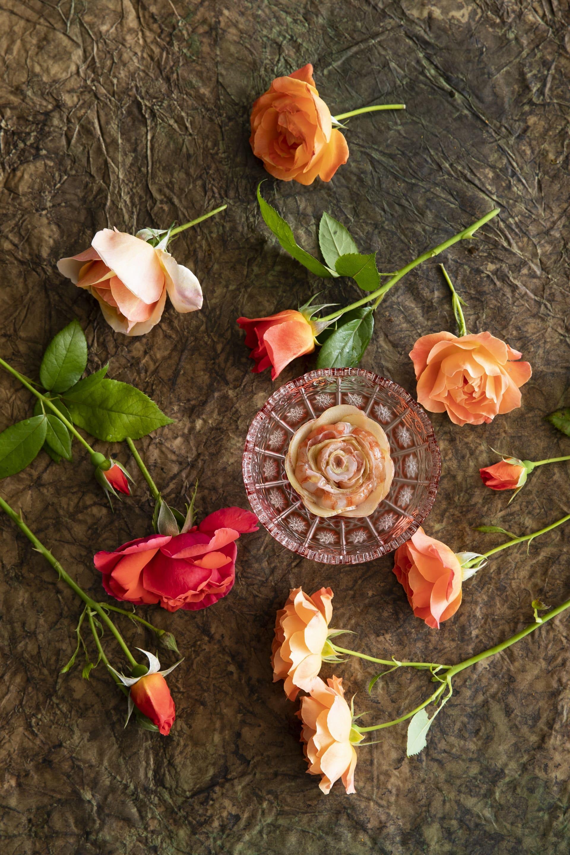 Rosace de gamberoni de San Remo, Mirazur Flowers Universe @Matteo Carassale
