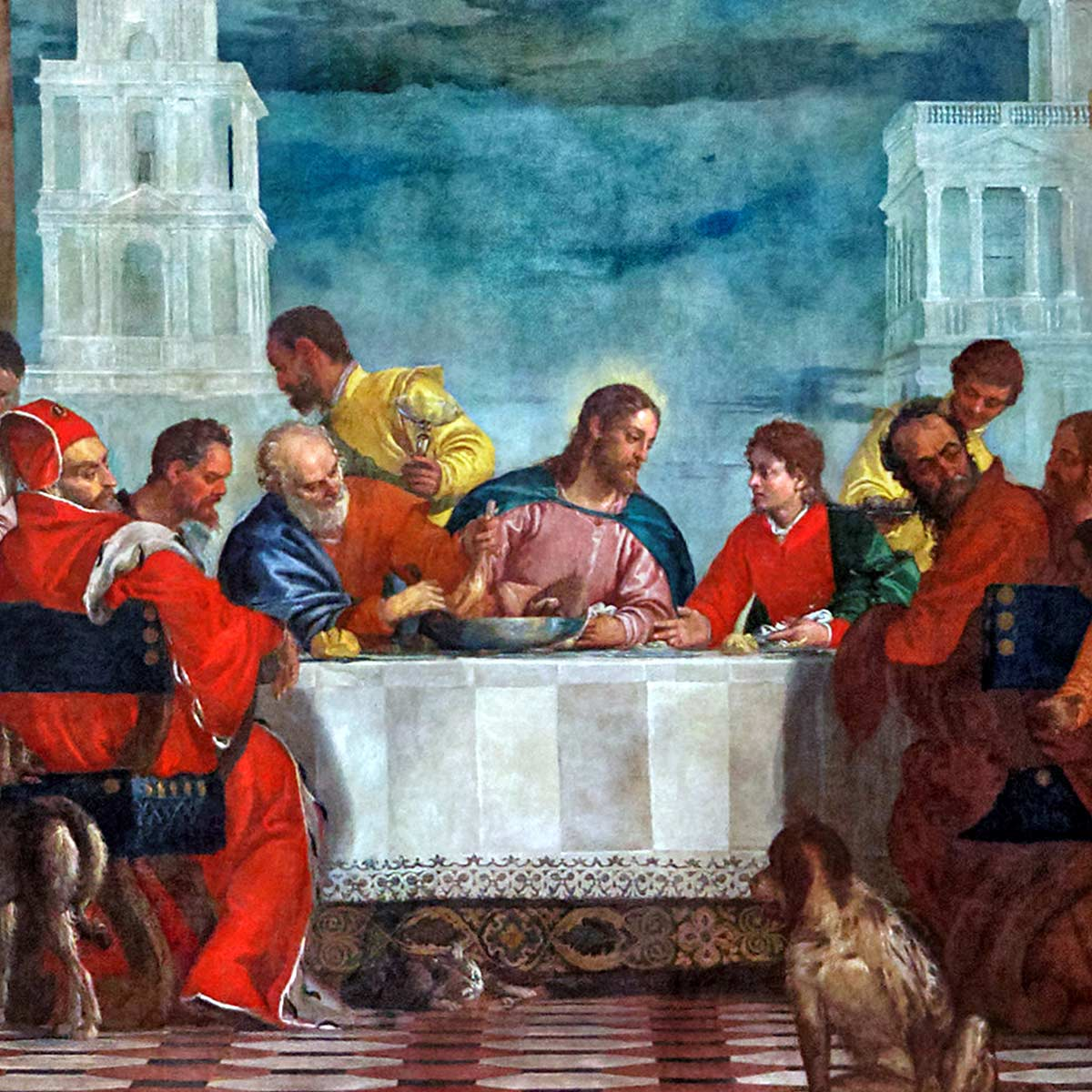 Last Supper Paolo Veronese Close up