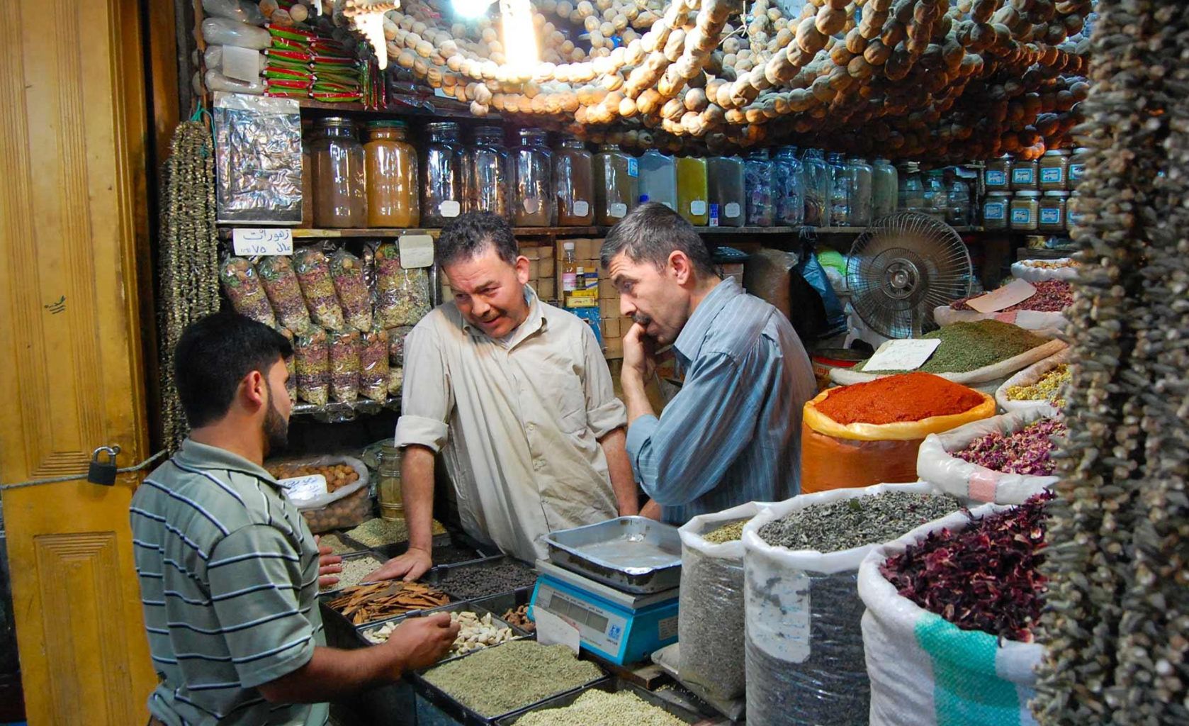 Traders in The Souk of Aleppo