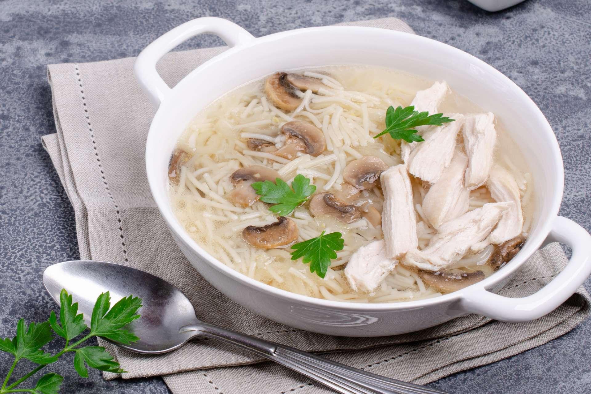 soupe restes dinde nouilles