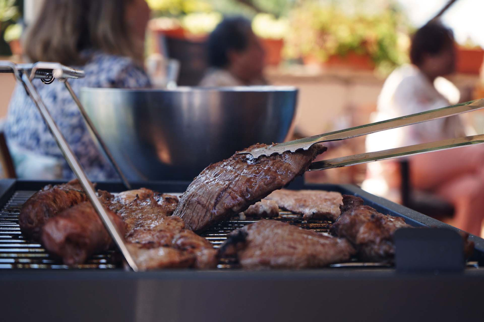cooking brisket on barbecue ©iStock