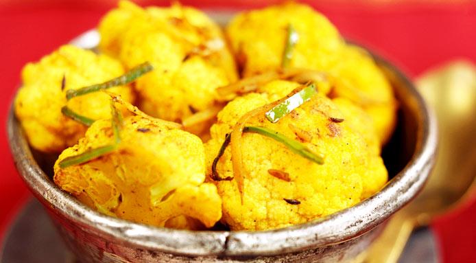 Fried Cauliflower With Saffron