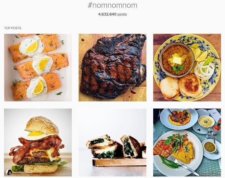 Food Hashtag Explained | #nomnom