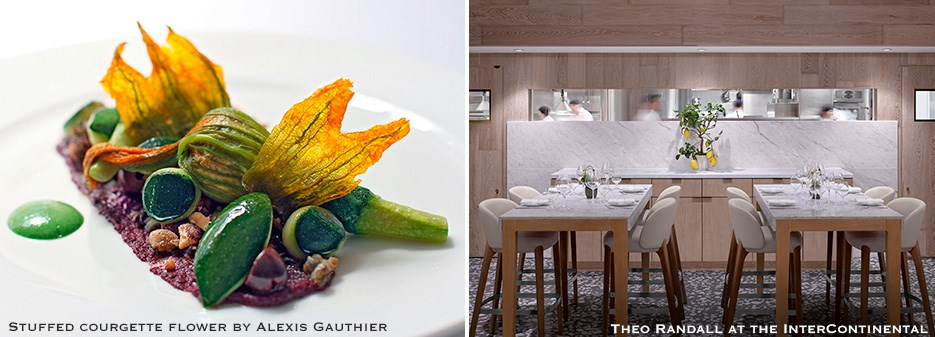 Stuffed courgette flower by Alexis Gauthier | Theo Randall at the InterContinental
