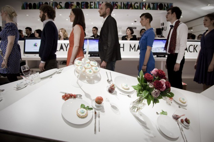 Milan Design Week 2012 | Food Performance by Caroline Hobkinson
