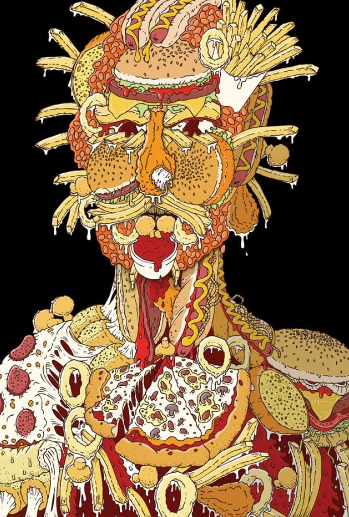 Food Art | Junk Food Arcimboldo