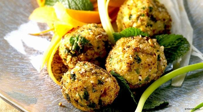 Chicken Meatballs with Mint