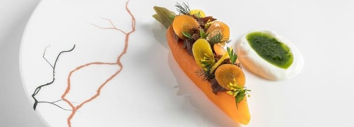 Clare Smyth: Lamb braised carrot