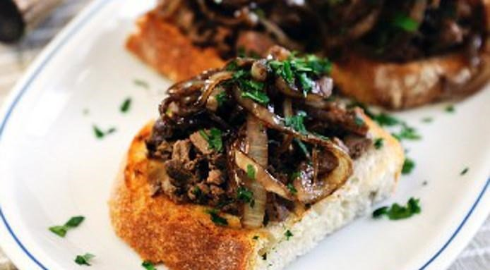 Crostini with Chicken Liver