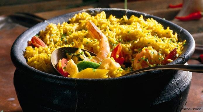 Curried Rice with Seafood