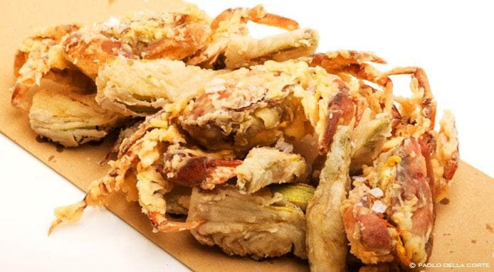 Deep Fried Soft Crab with Artichokes