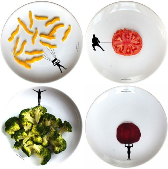 Funny Plates by Boguslaw Sliwinsk | Tomato