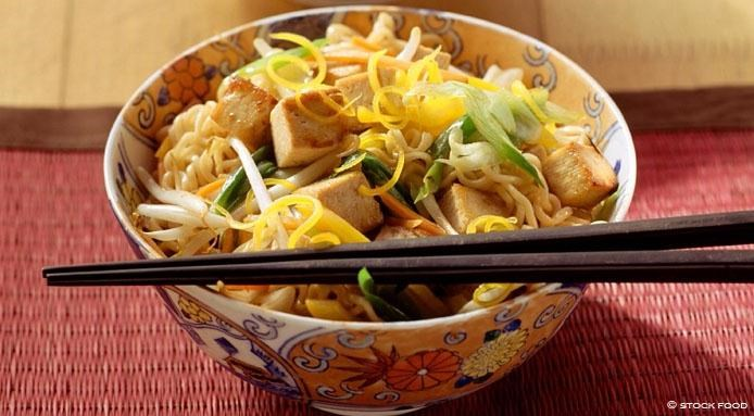 Egg Noodles with Tofu