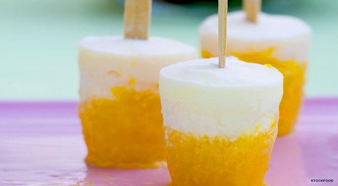 Frozen Yogurt Pops