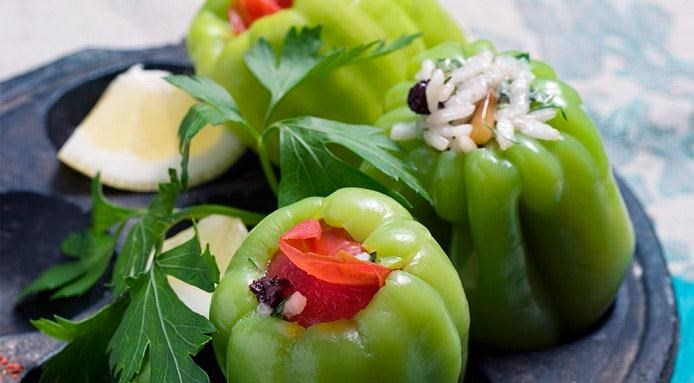 Green Peppers Stuffed
