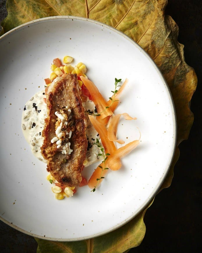 Grilled Grouper with Ant caviar