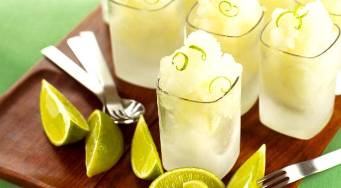Lime Vodka Granita