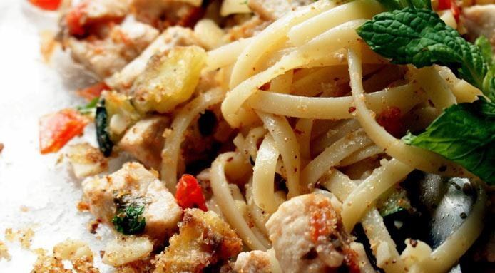 Linguini with Swordfish