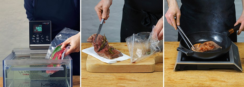 How to put meat sous-vide