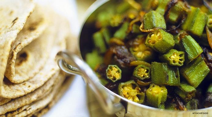 Okra with Onions