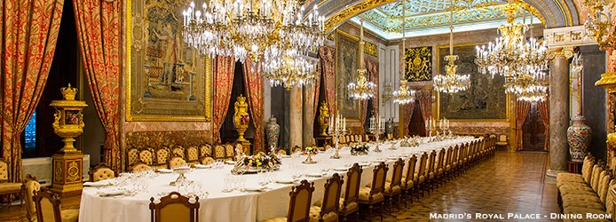 Madrid's Royal Palace Dining-Room