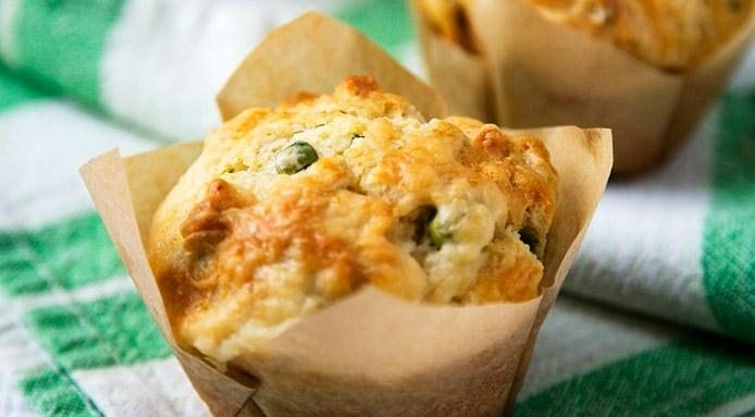 Pea and Ham Muffins