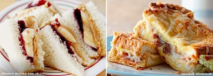 Peanut butter and jelly sandwich | Croque-monsieur