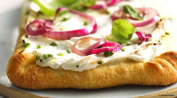Pizza with Soft Cheese