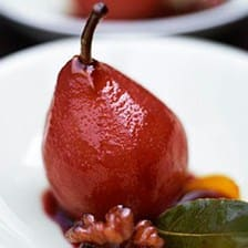 Poached Red Wine Pears