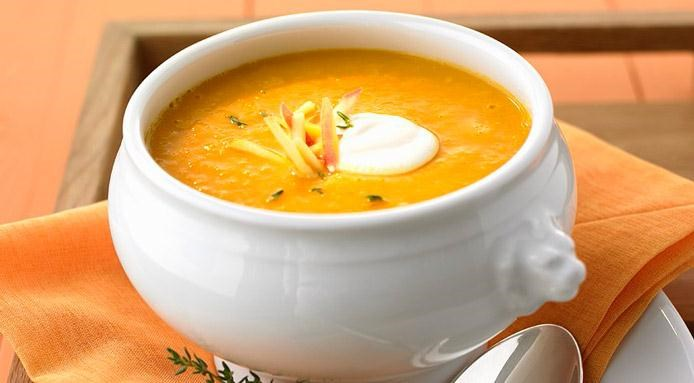 Pumpkin Soup with Apples