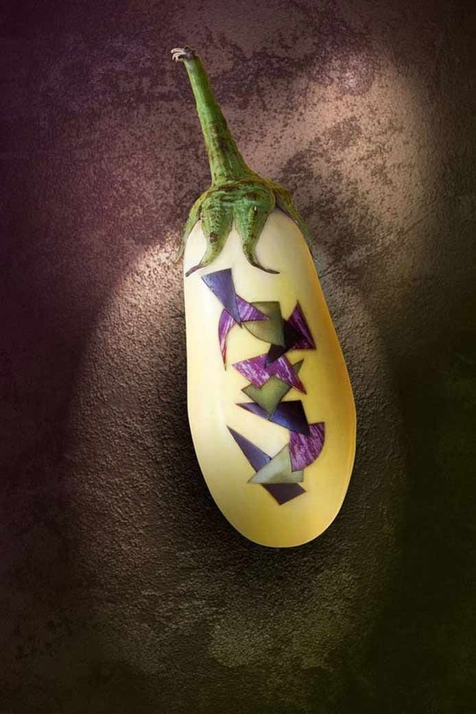 Vegetable and Fruit Carving | Eggplant