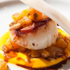 Scallops with Caponata by Chef Marco White