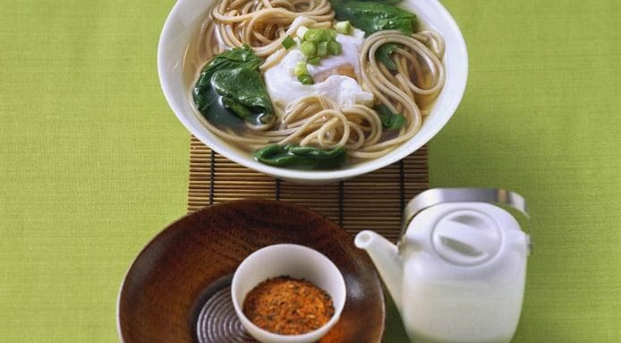 Soup with Soba Noodles