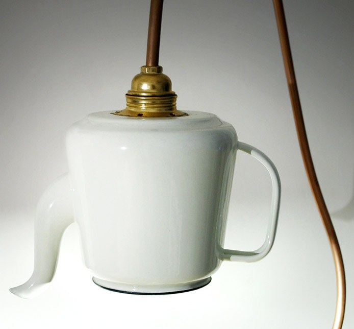 Teapot Lamp | White, Detail