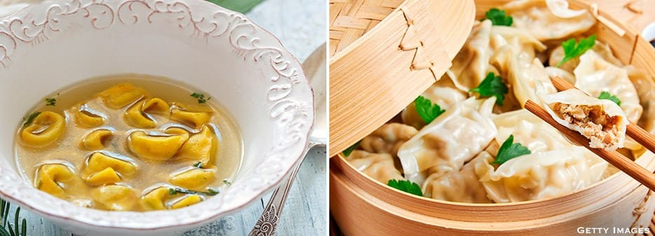 Tortellini in broth | Chinese Dumplings