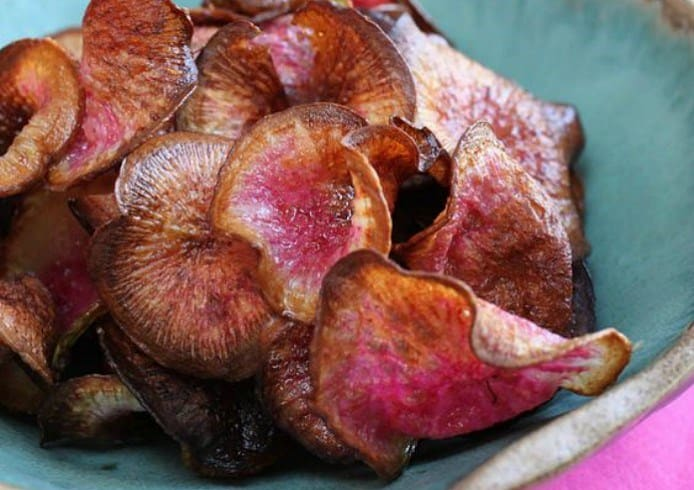 Watermelon Radish Chips