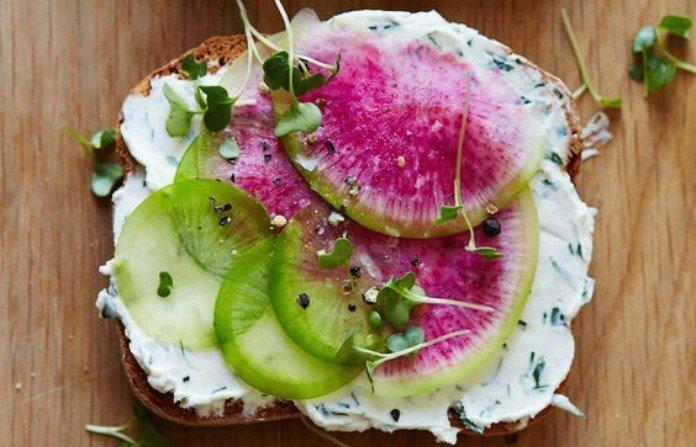 Watermelon Radish Sandwich