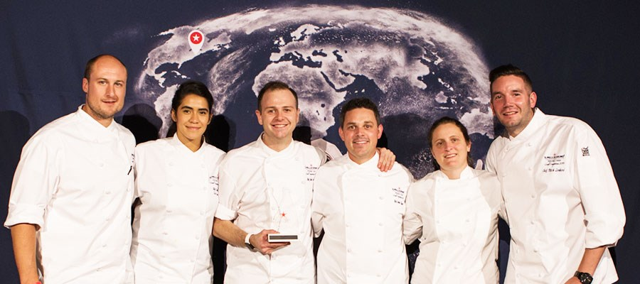 S.Pellegrino Young Chef - USA winner with the jurors