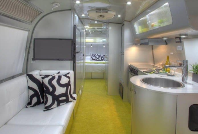 Airstream Camping Trailer | Kitchen