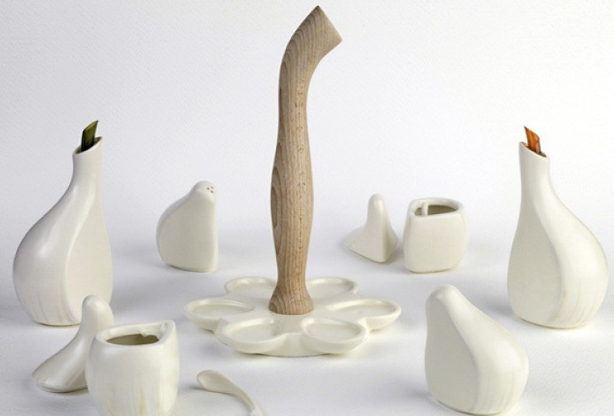 Ajori Cruet Set | Wooden Stem
