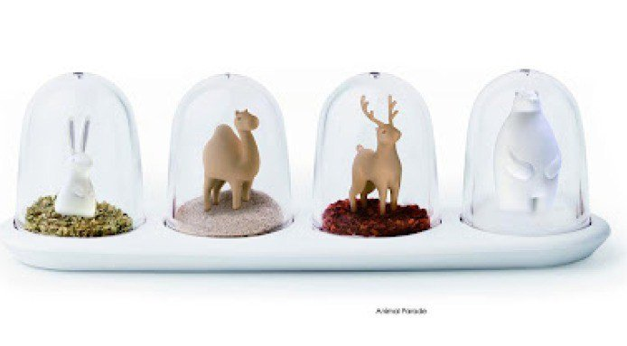 Snow Globe Condiment Shakers | Animal Parade