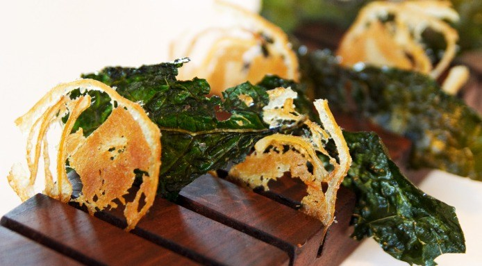 Face Bacon and Fried Kale