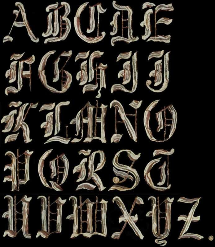 Bacon Alphabet by Henry Hargreaves