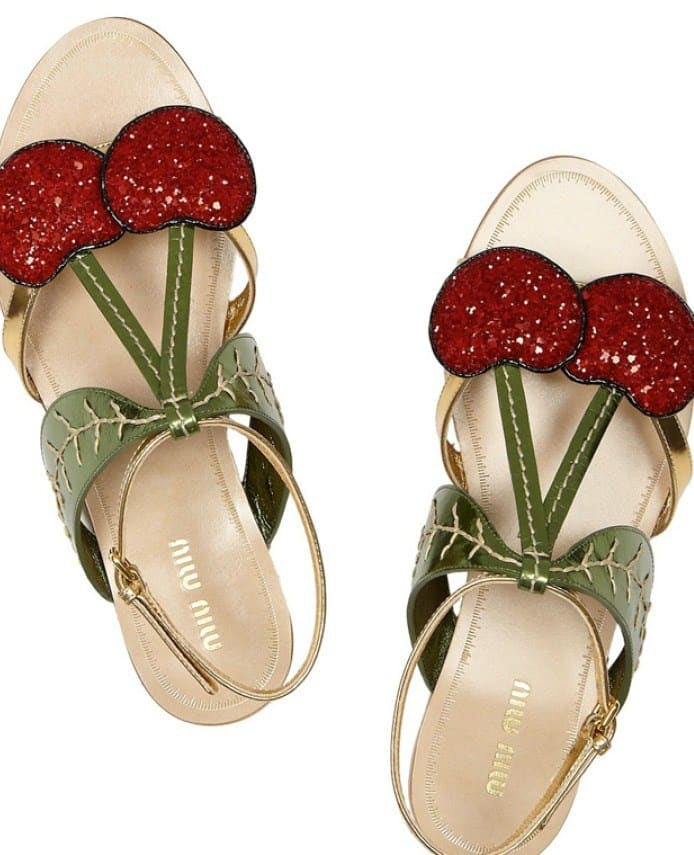 Food And Fashion | Cherry Sandals