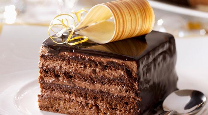 Wonderful cake with chocolate mousse